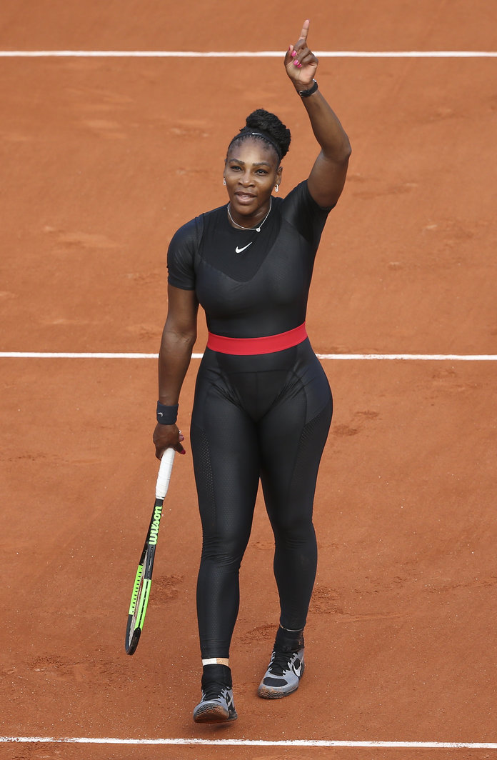 Serena Williams at the 2018 French Open