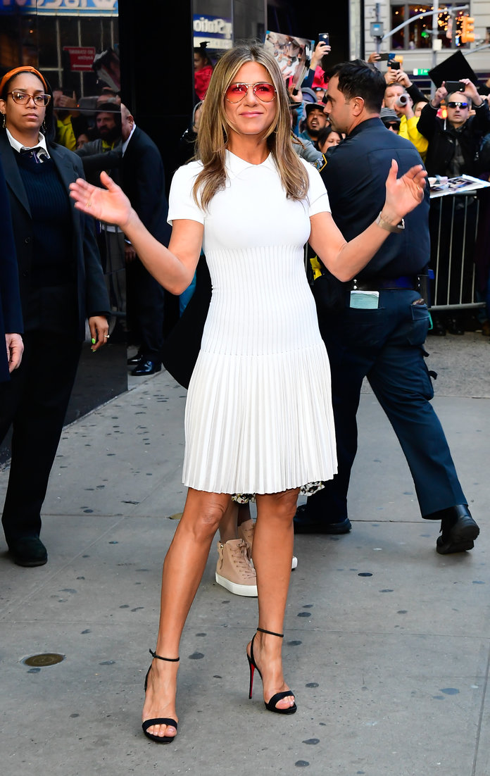 Jennifer Aniston arriving at Good Morning America