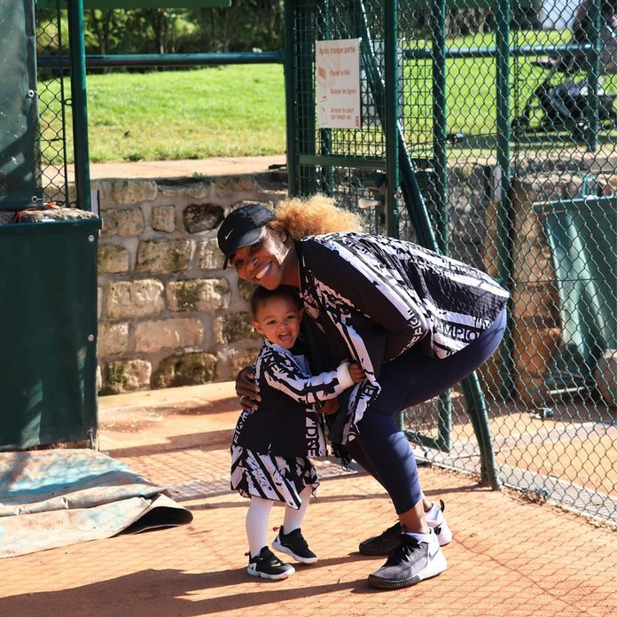 Serena Williams and her daughter, Olympia