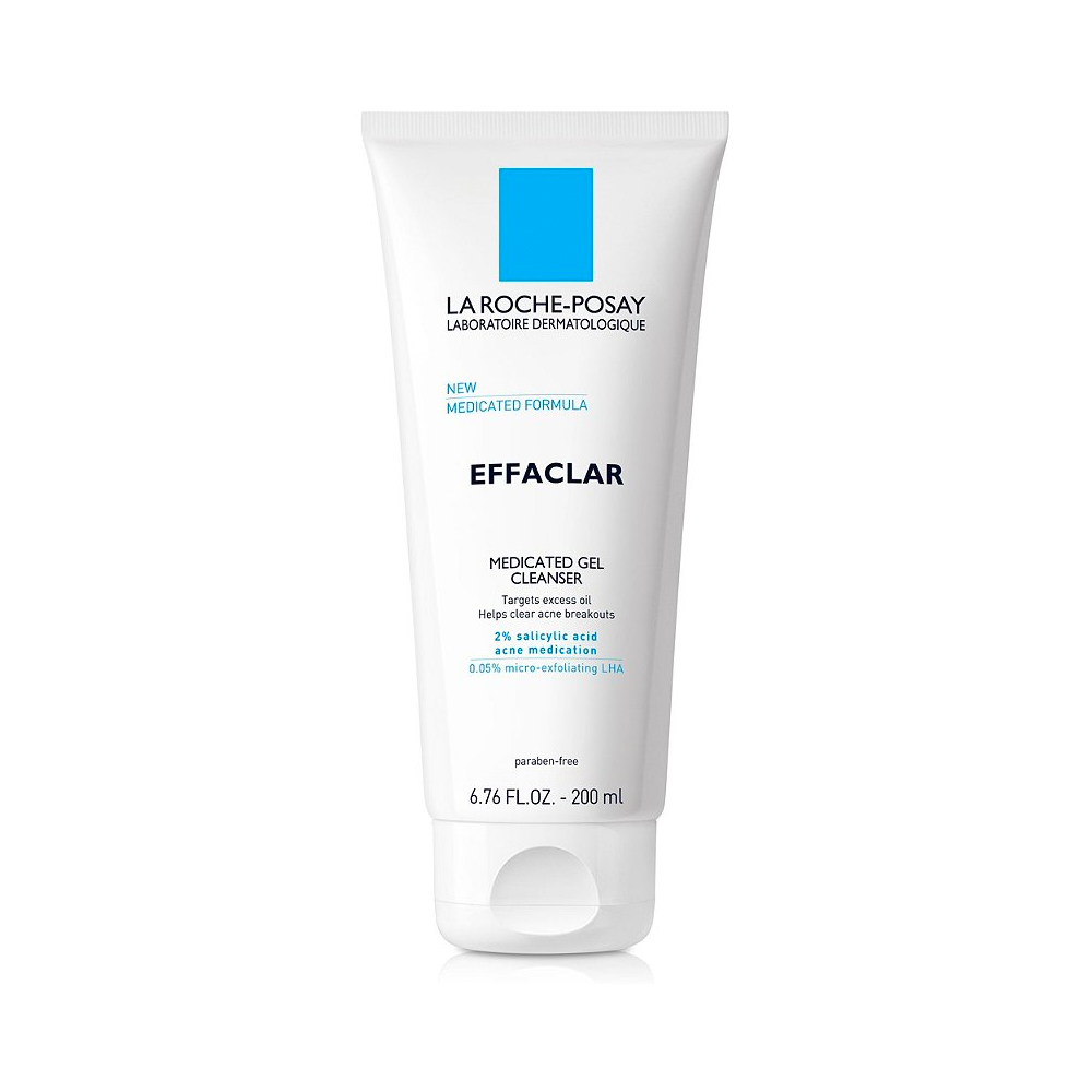Cleanser: La Roche-Posay Effaclar Medicated Gel Cleanser for Acne Prone Skin