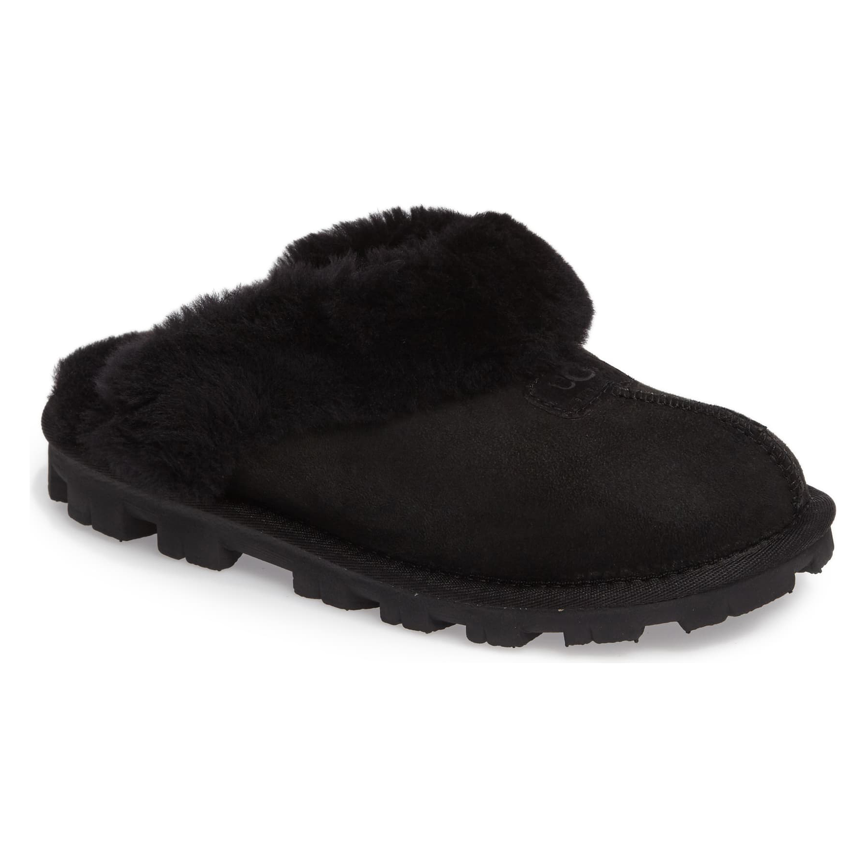 Ugg Genuine Shearling Slipper in Black