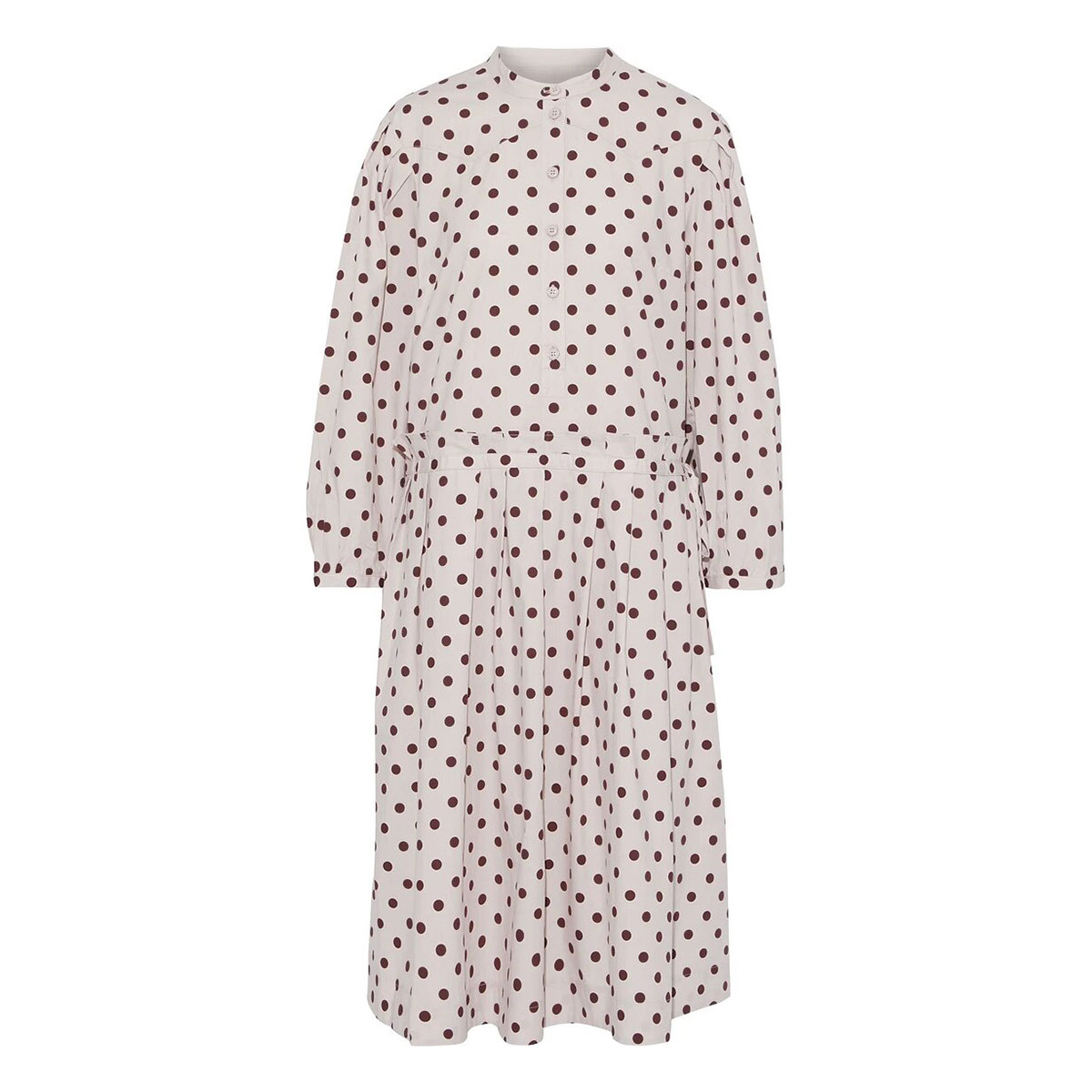 BAUM UND PFERDGARTEN Abbrienna pleated polka-dot cotton-blend dress