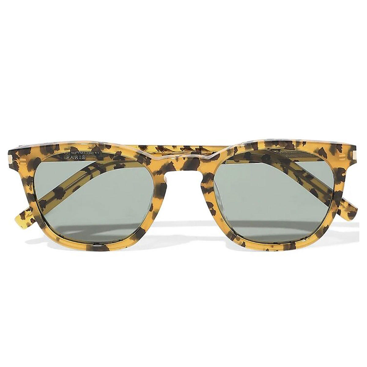 SAINT LAURENT D-frame leopard-print acetate sunglasses