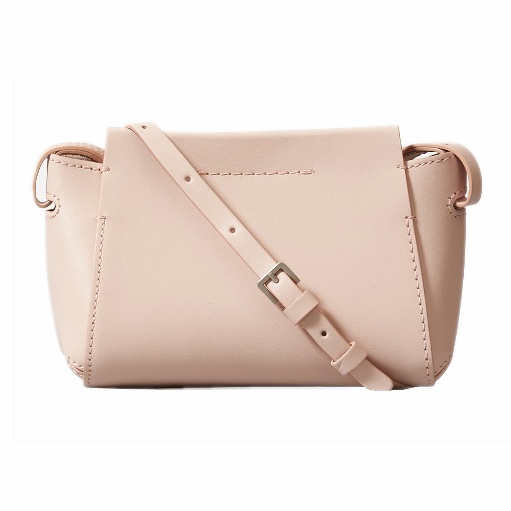 The Micro Form Bag in Peach