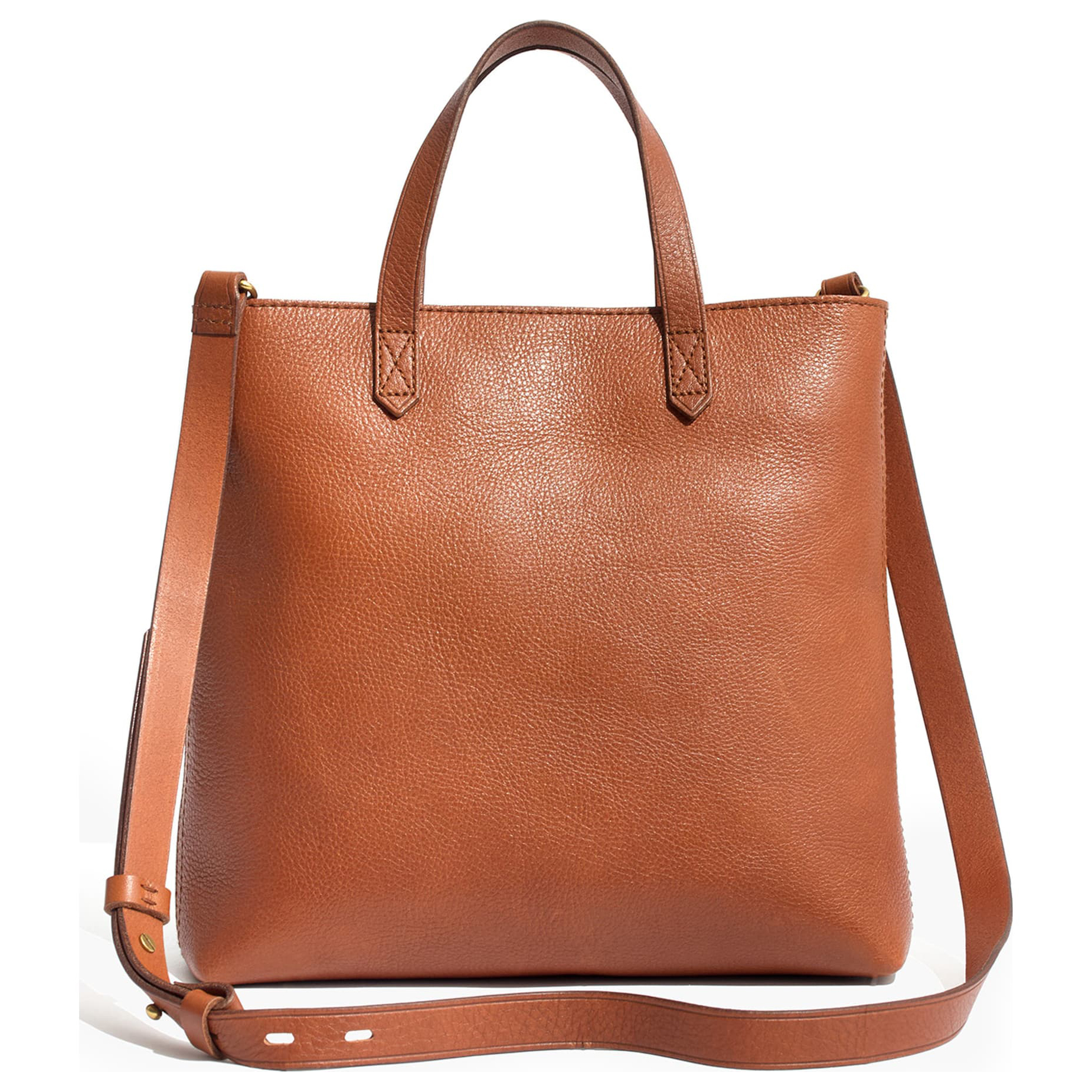 Madewell Small Transport Leather Crossbody Tan