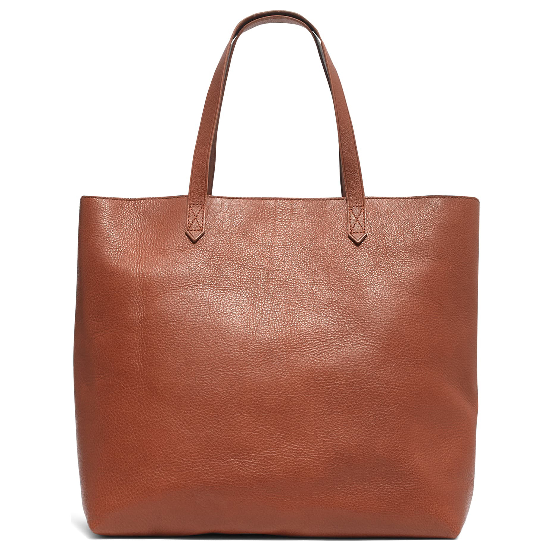 Madewell Zip Top Transport Leather Tote Tan