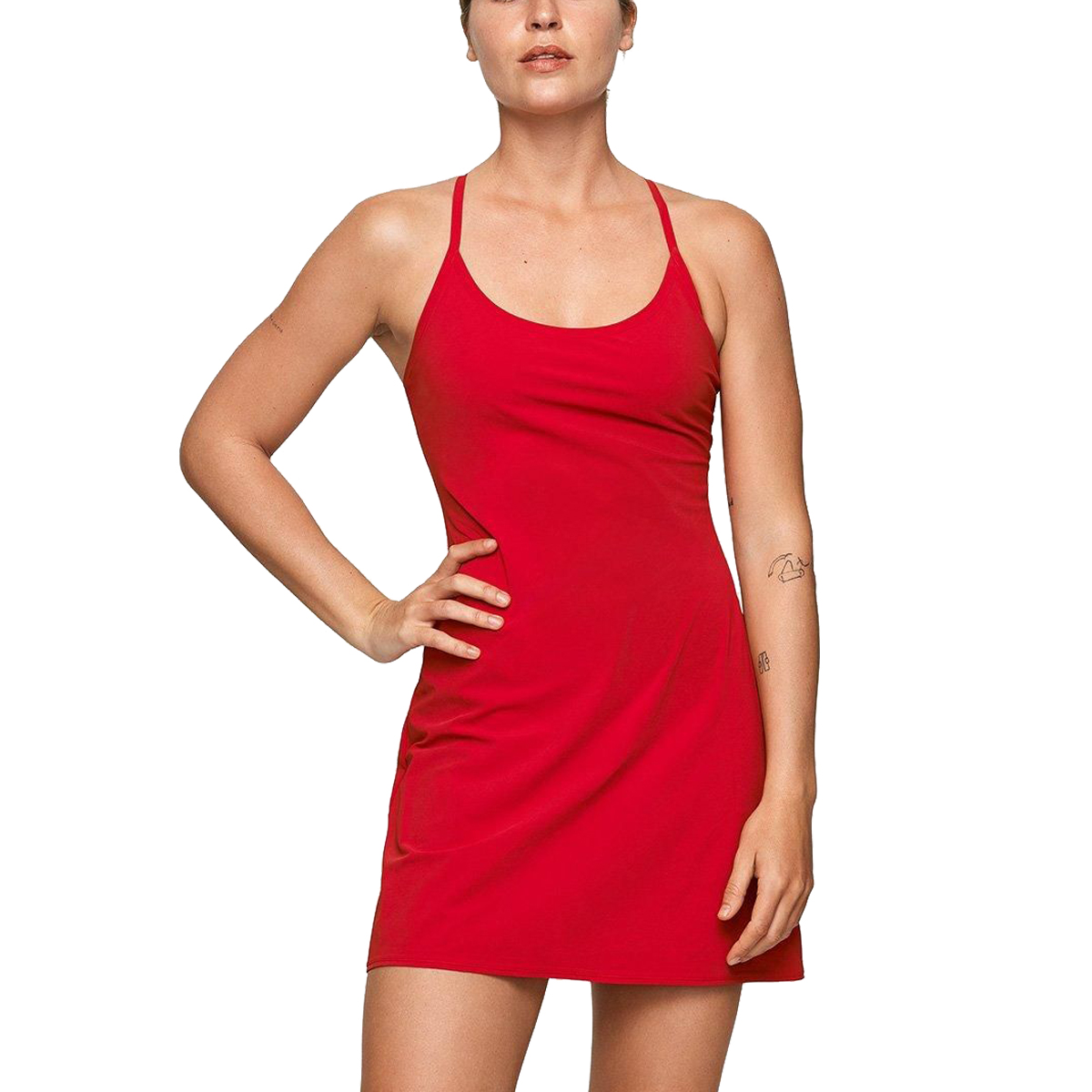 Outdoor Voices The Exercise Dress in Scarlet