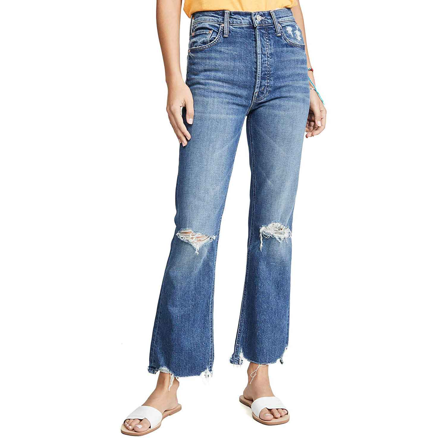 MOTHER Women's Superior The Tripper Chew Jeans