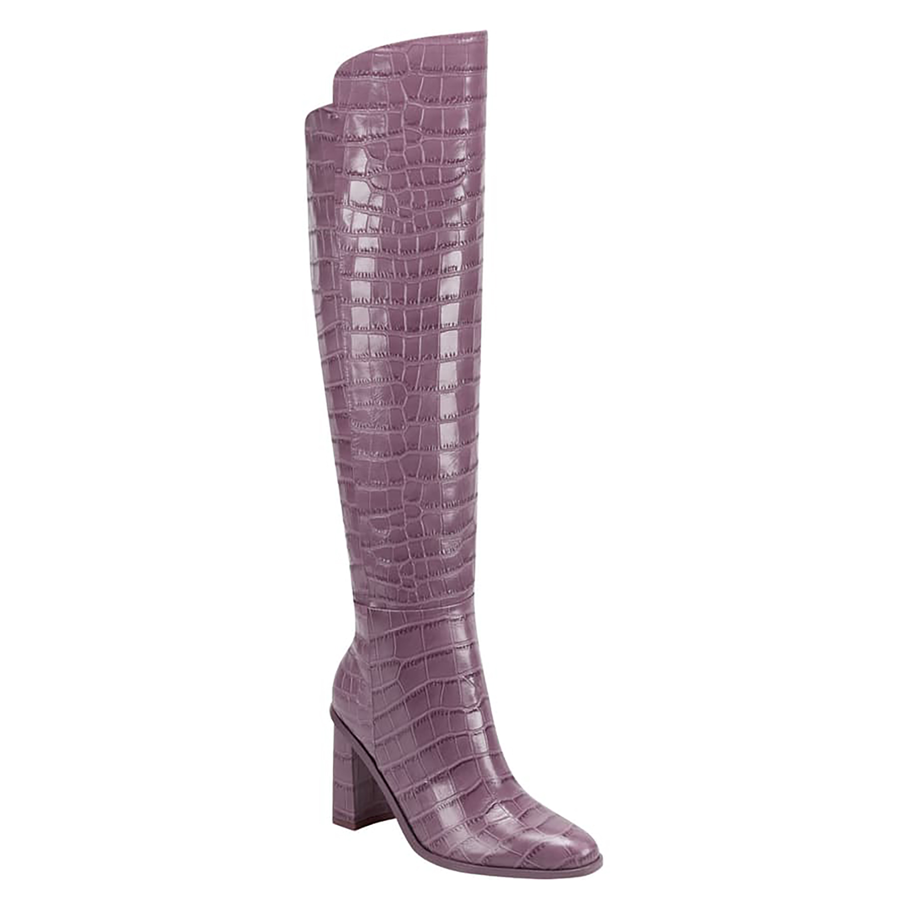 Marc Fisher LTD Unella Knee High Boot in Berry Croco