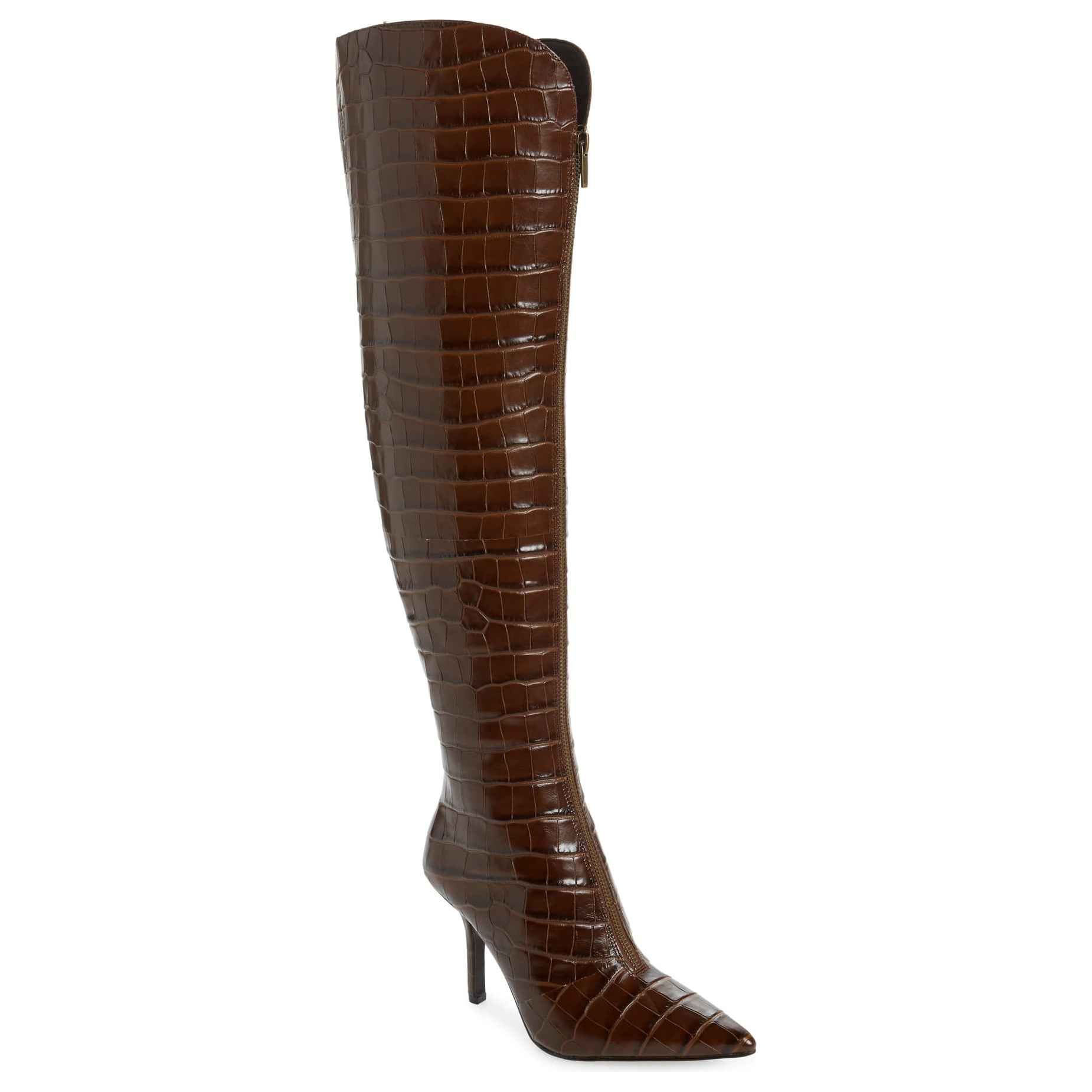 Vince Camuto Naomina Over the Knee Boot Chocolate Brown
