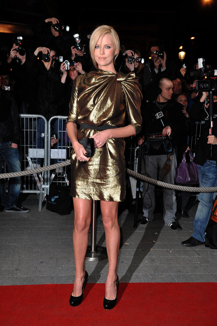 Charlize Theron at the Burning Plain Paris Premiere in 2009