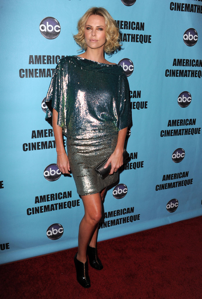 Charlize Theron at the American Cinematheque 24th Annual Award Presentation To Matt Damon 2010