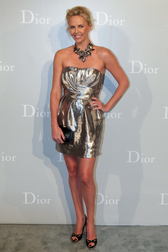 Charlize Theron at the Dior Cruise 2011 fashion show
