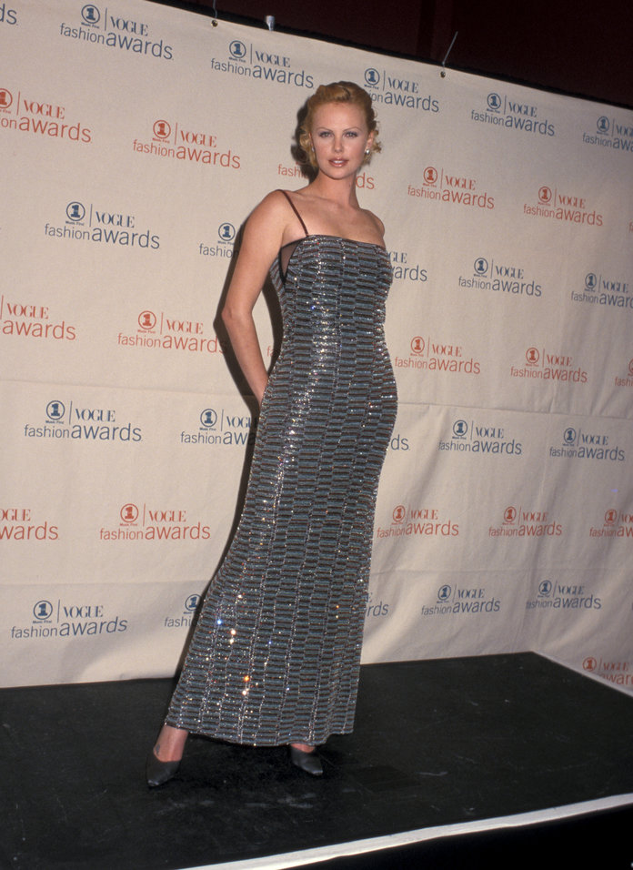 Charlize Theron at the 1999 VH1/Vogue Fashion Awards