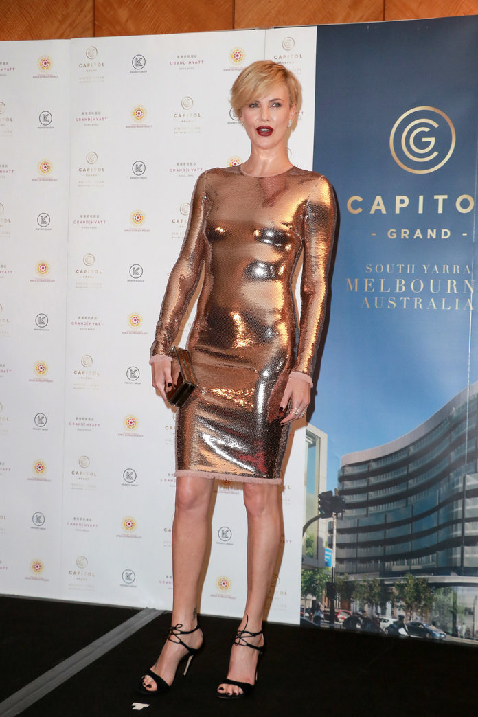 Charlize Theron at an event in Hong Kong in 2015