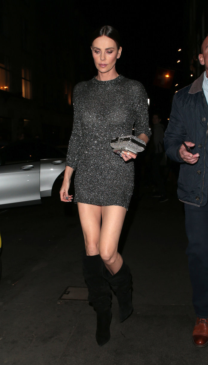 Charlize Theron at Tamarind Kitchen in Soho