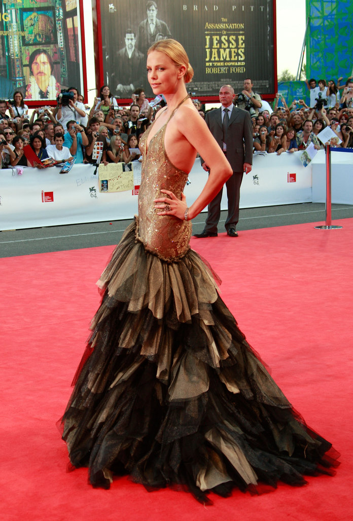 Charlize Theron at the 64th Venice Film Festival in 2007