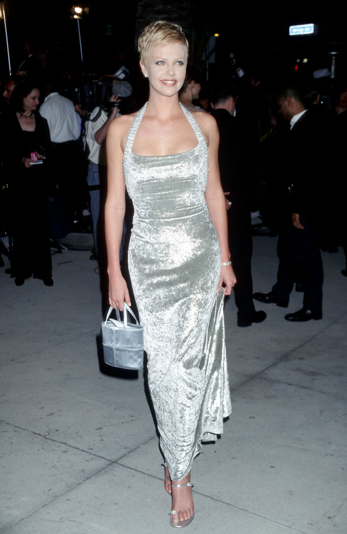 Charlize Theron at the 1998 Vanity Fair Oscar Party