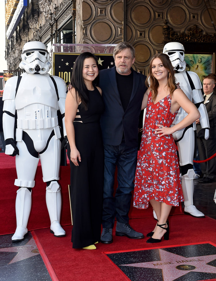 Kelly Marie Tran at ceremony honoring Mark Hamill with star on the Hollywood Walk of Fame