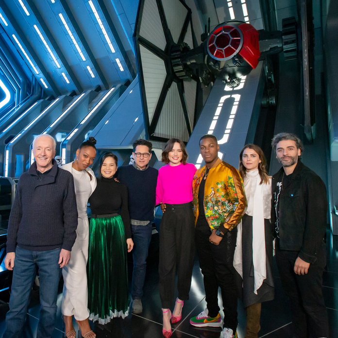 Kelly Marie Tran and the Cast of Star Wars: The Rise of Skywalker at Disney Parks Star Wars Attraction