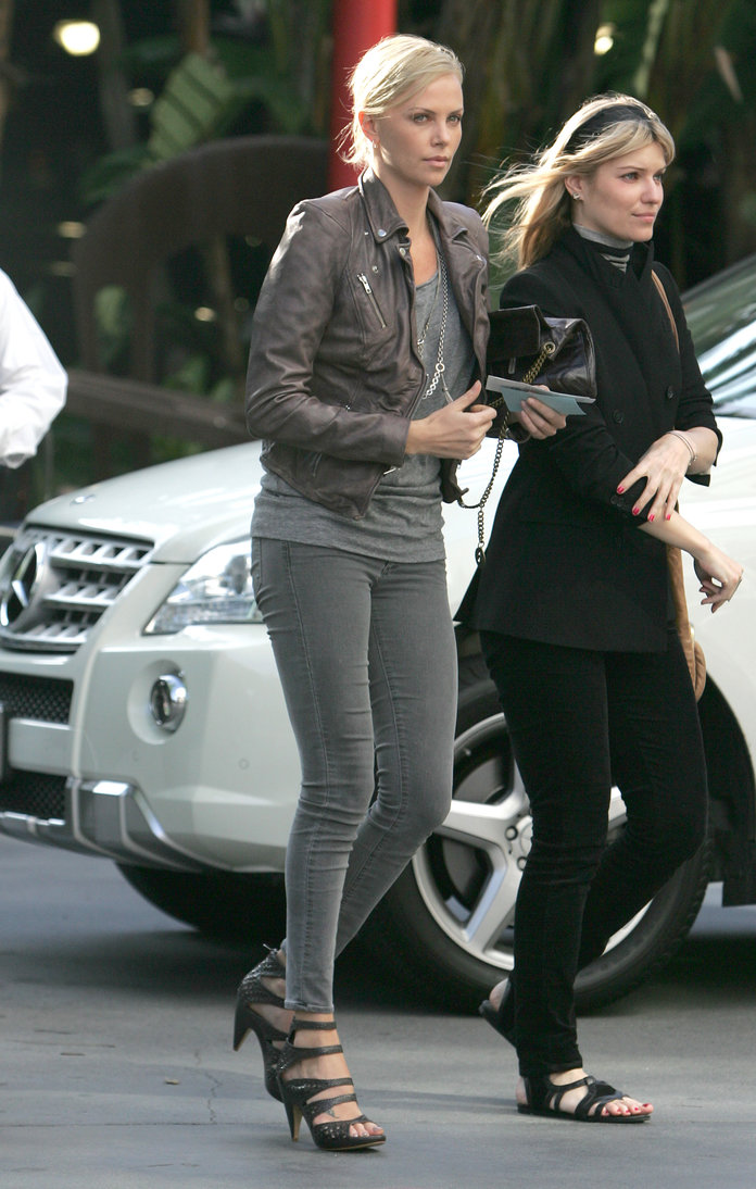 Charlize Theron in LA in 2010