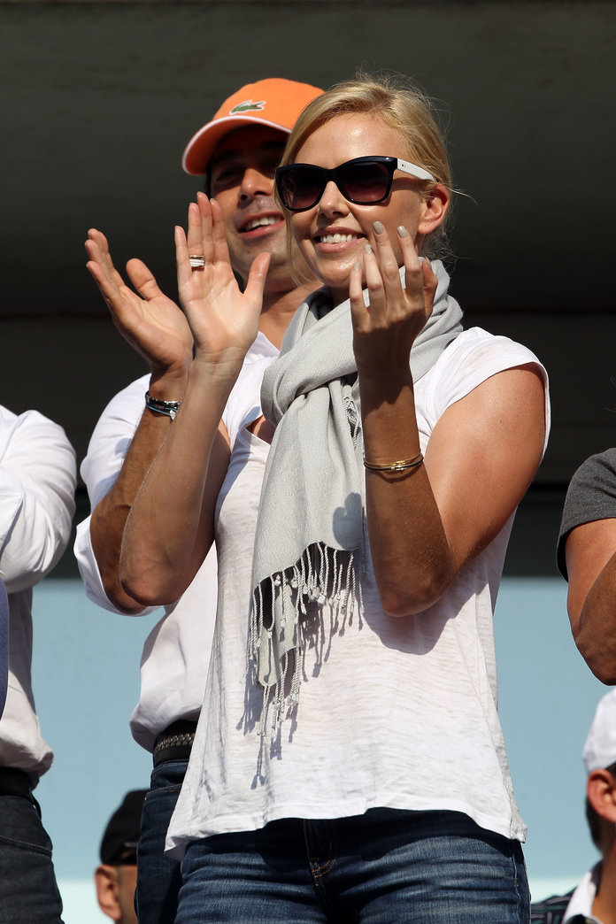 Charlize Theron at the 2010 U.S. Open