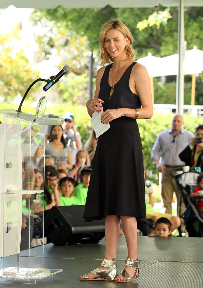 Charlize Theron at the On West Coast Block Party 2015