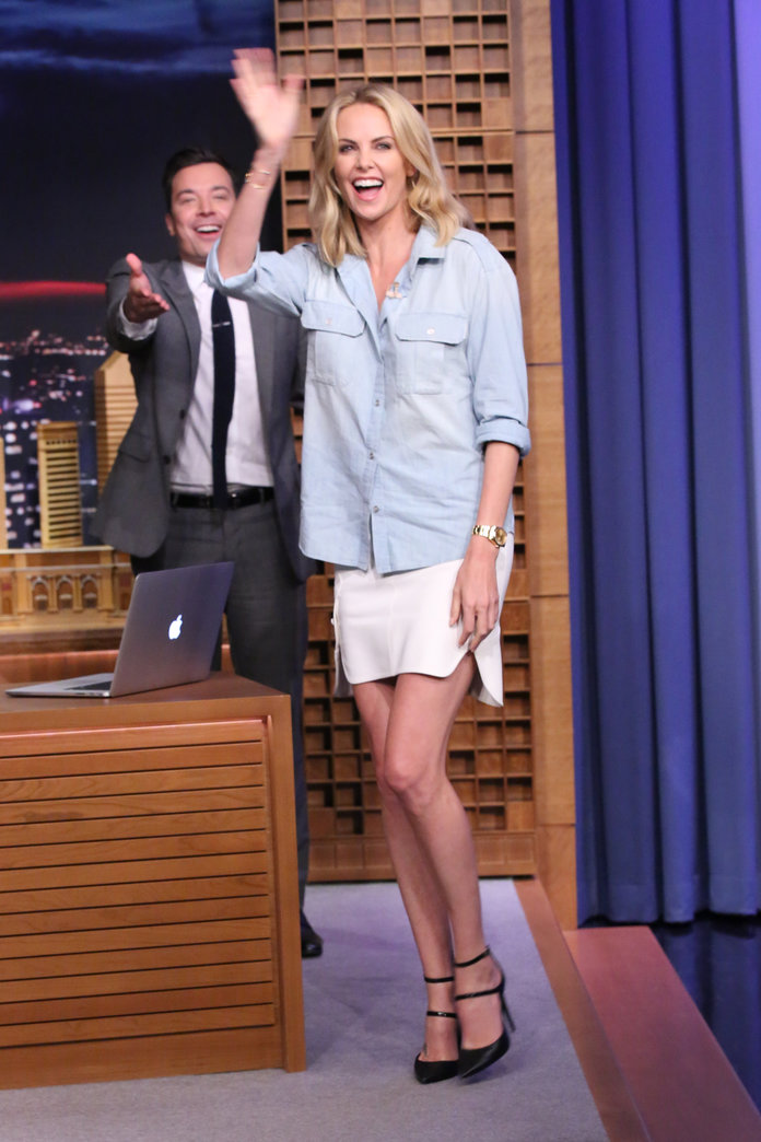 Charlize Theron at The Tonight Show Starring Jimmy Fallon 2015