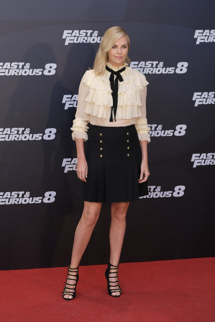 Charlize Theron at the 2017 Madrid photocall for FAST & FURIOUS 8