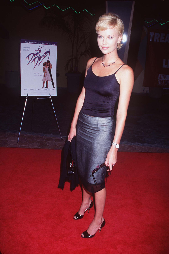 Charlize Theron at the 10th Anniversary of Dirty Dancing in 1997