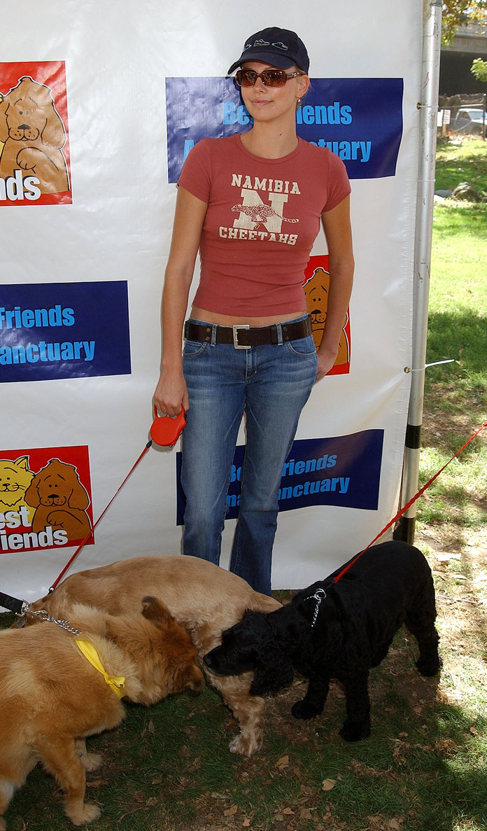 Charlize Theron at the Best Friends Animal Sanctuary's Pet Adoption Festival 2002