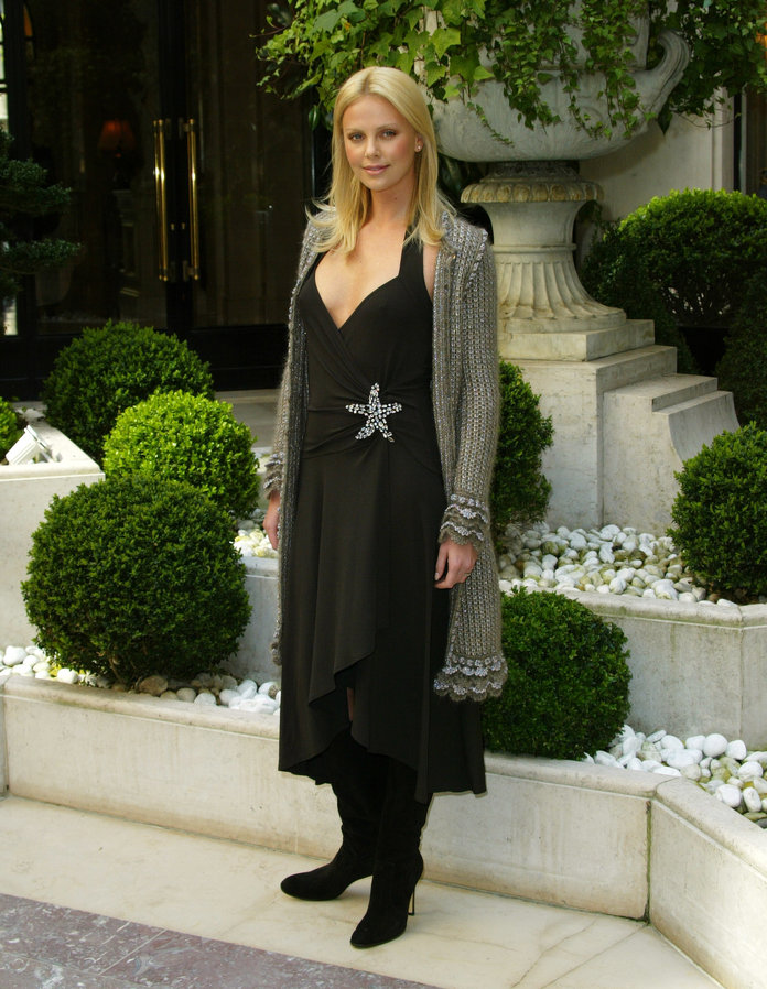Charlize Theron at a 2004 Monster photo call