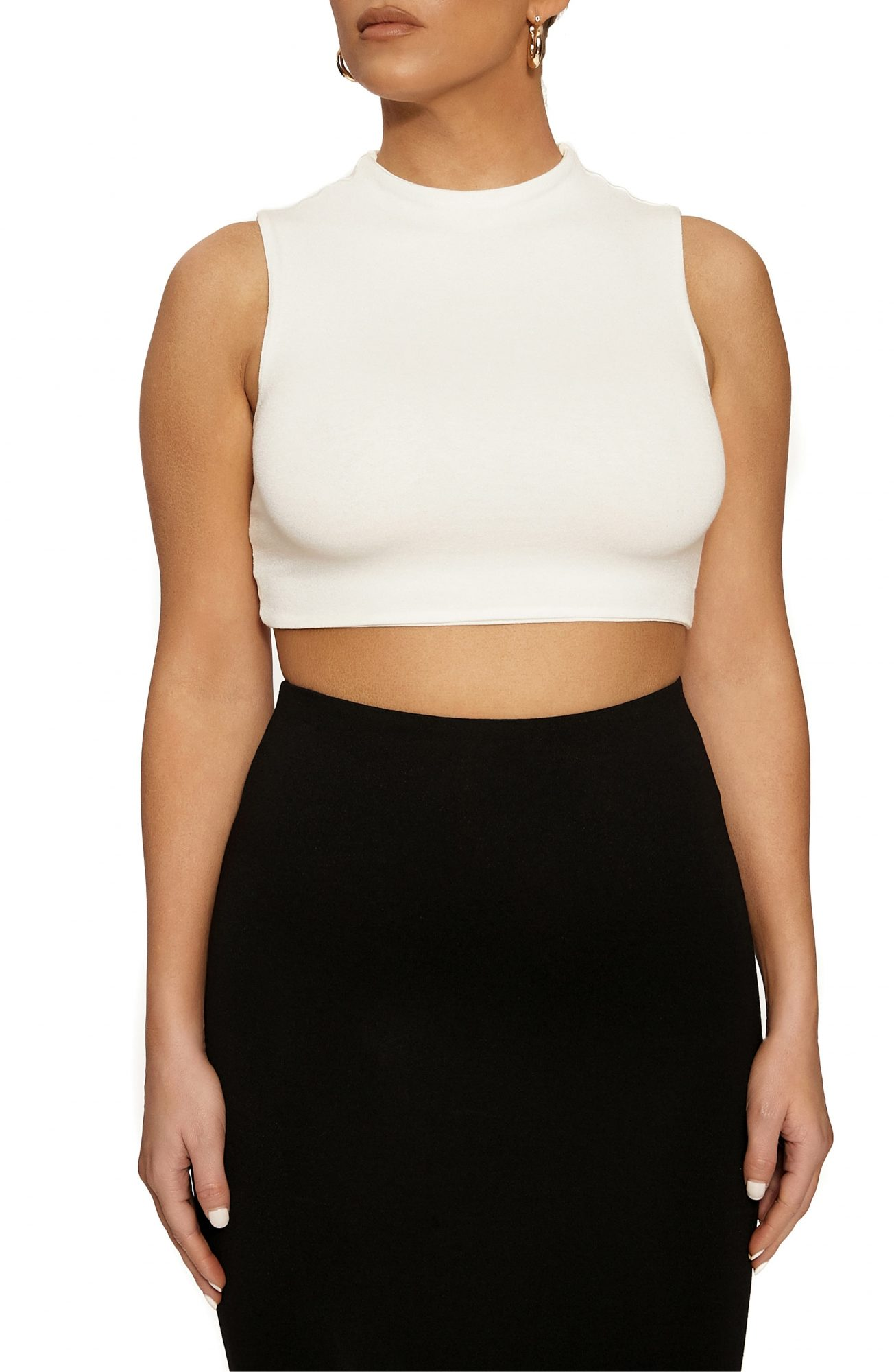 Naked Wardrobe Sleeveless Crop Top