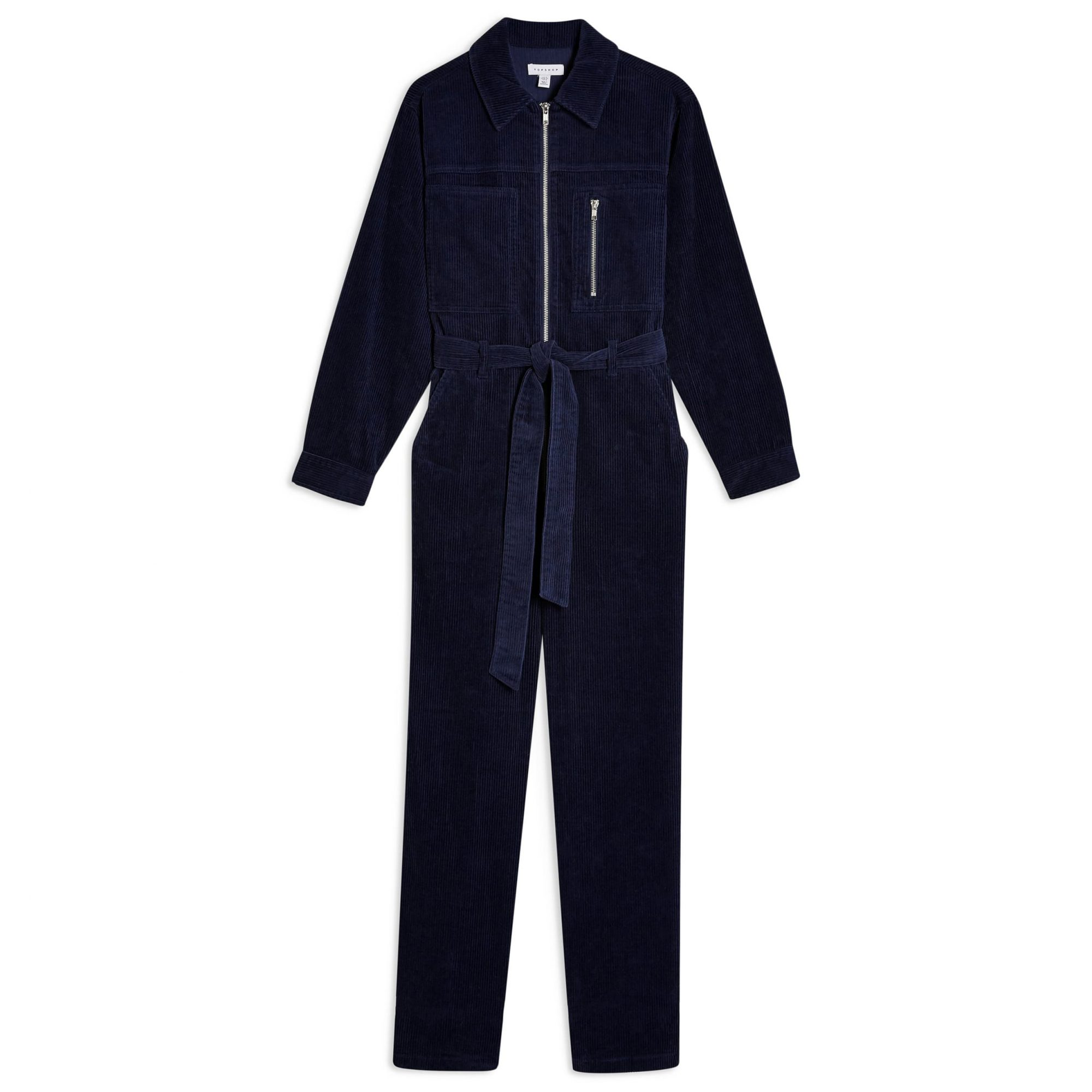 Topshop Corduroy Zip Boilersuit