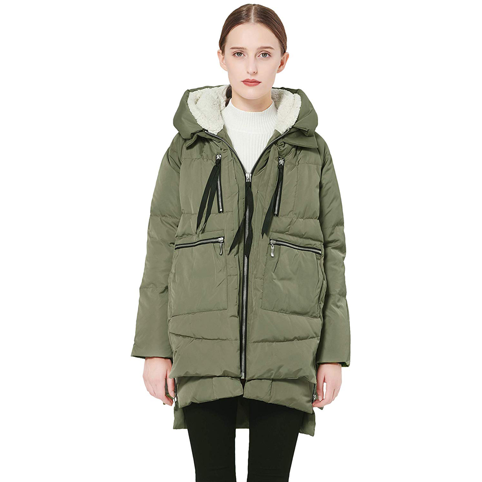 Orolay Women's Thickened Down Jacket Green 2XL