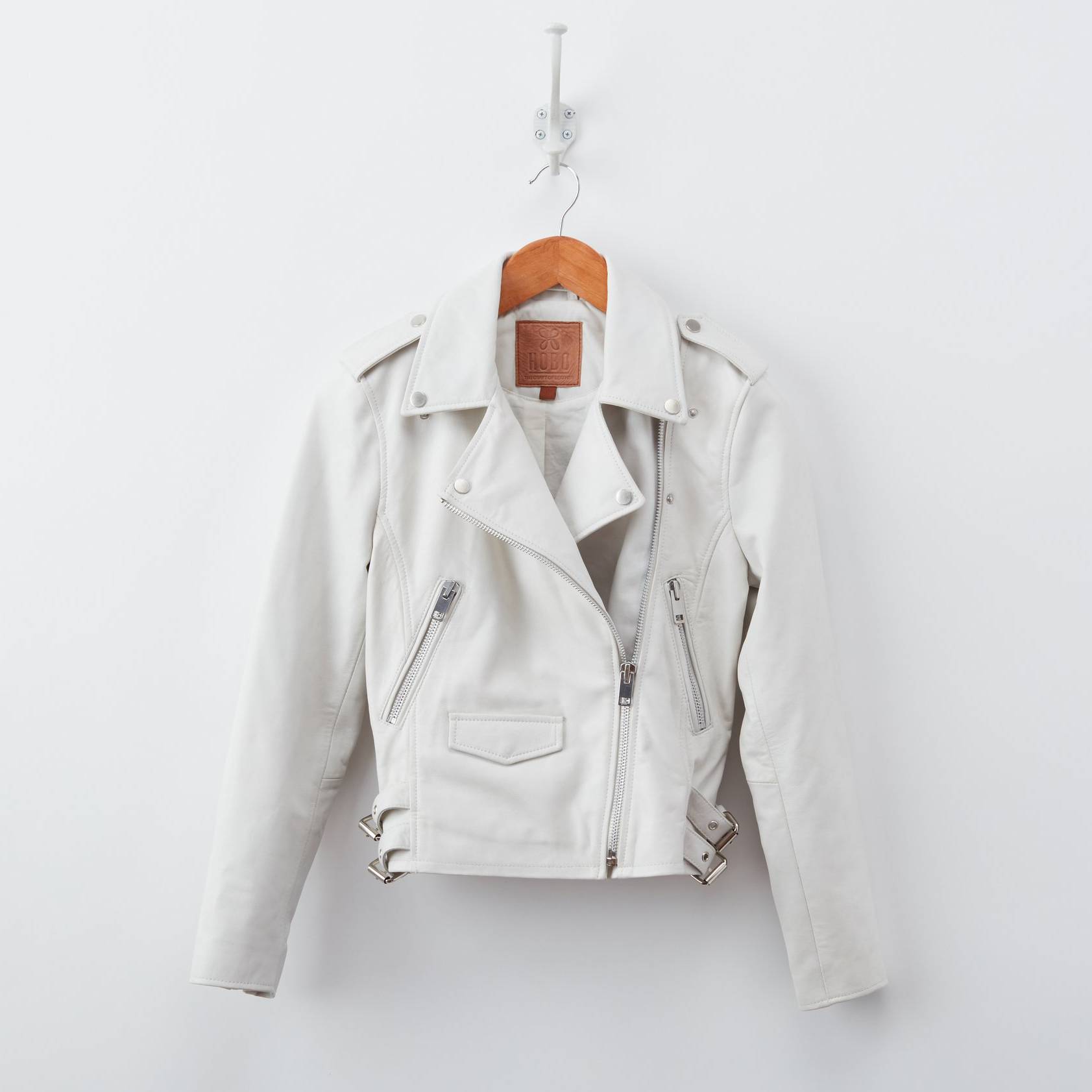 Rebel Soul White Leather Jacket