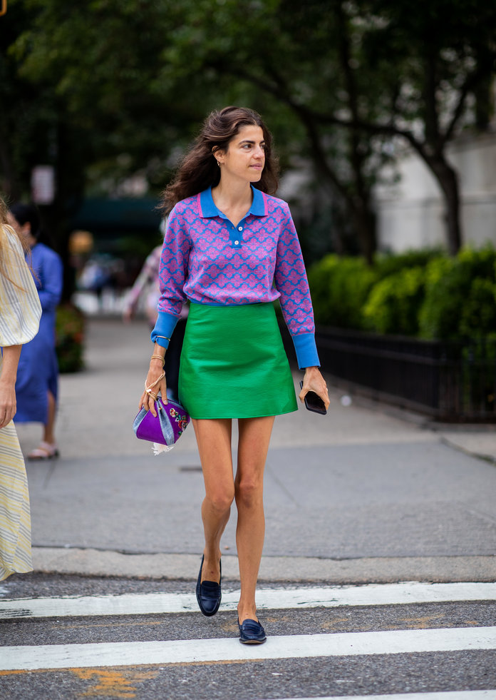 Color Pairing Ideas - Green and Purple Outfit