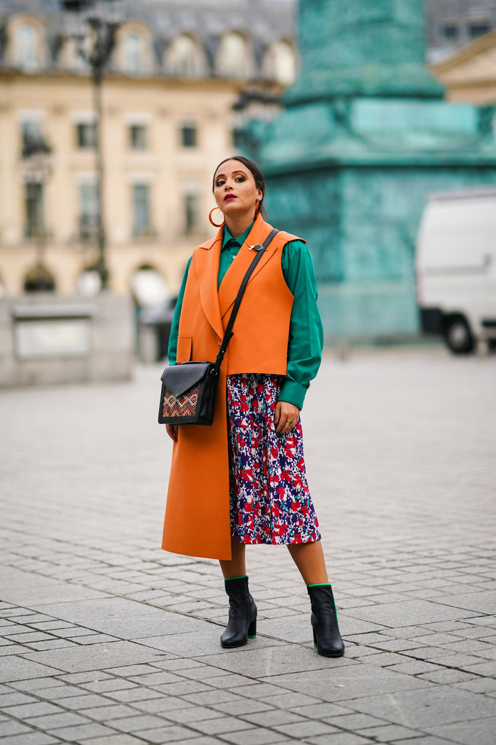 Color Pairing Ideas - Orange and Green Outfit