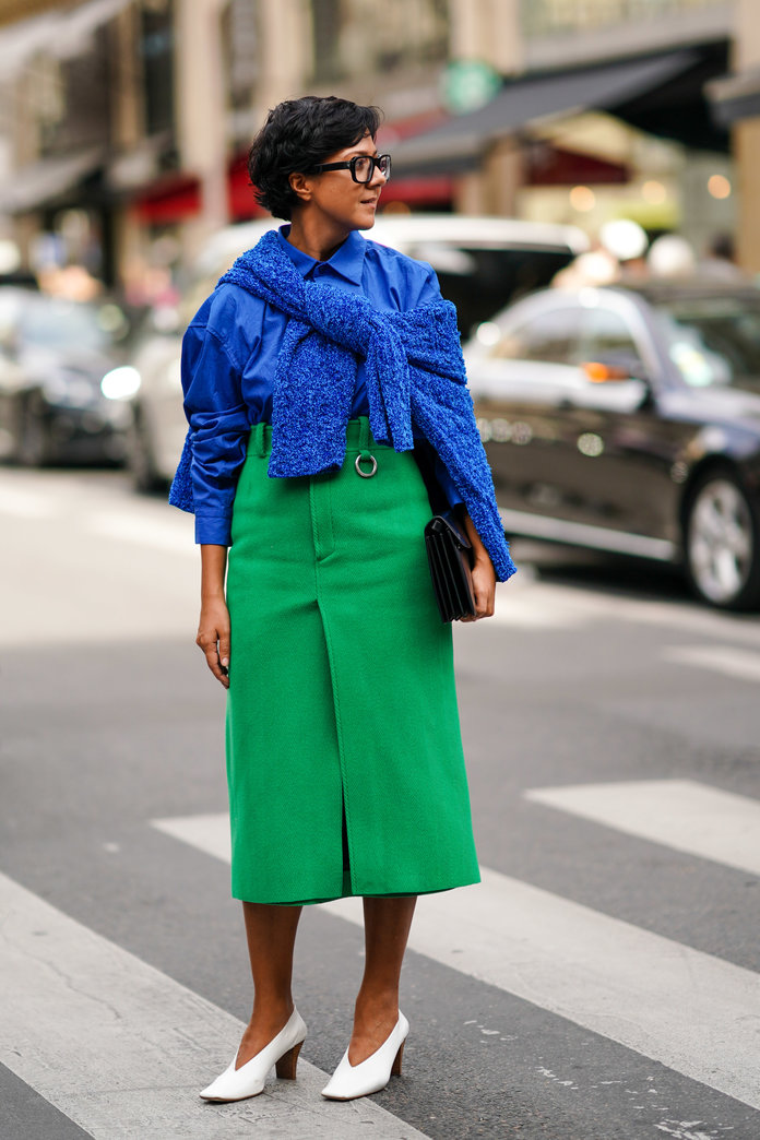 Color Pairing Ideas - Blue and Green Outfit