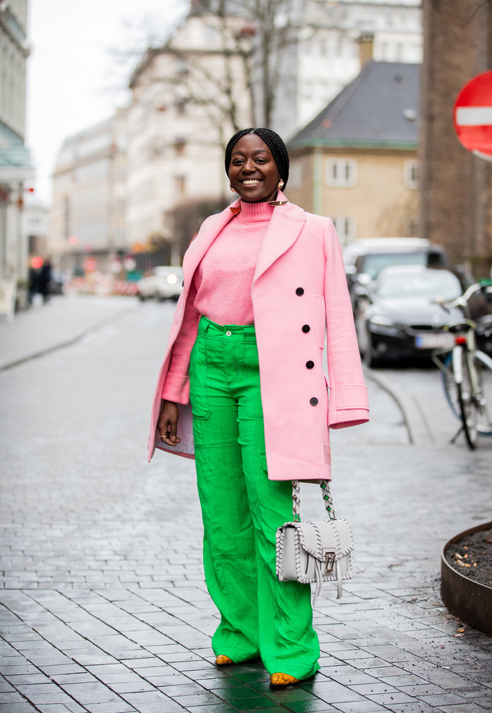 Color Pairing Ideas - Pink and Green Outfit