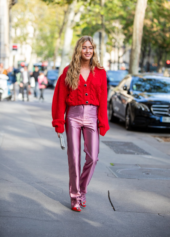 Color Pairing Ideas - Pink and Red Outfit