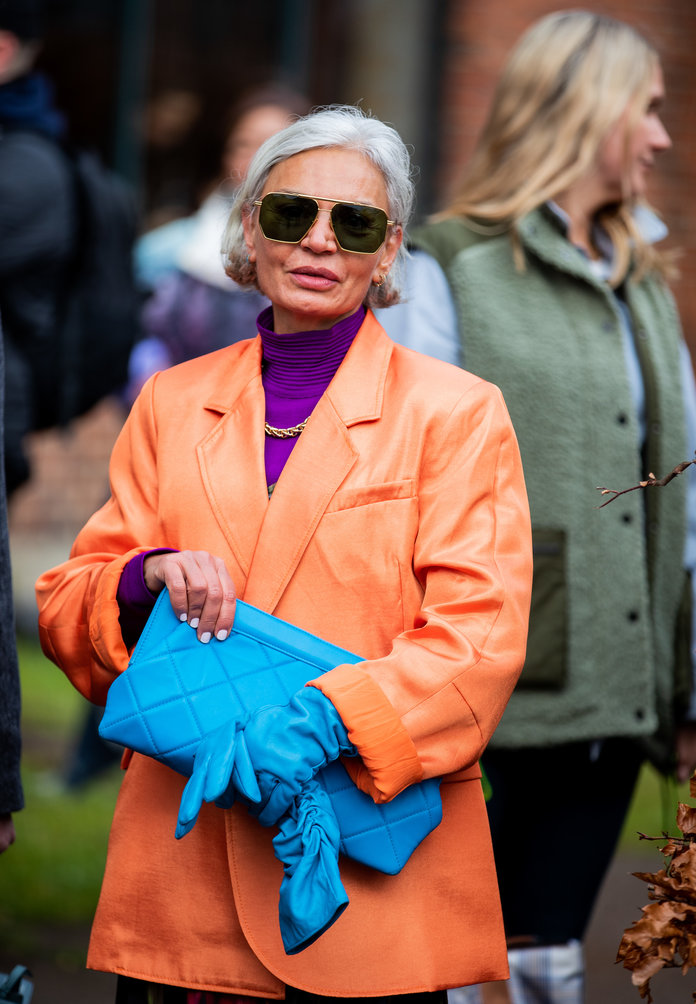 Color Pairing Ideas - Purple and Orange Outfit