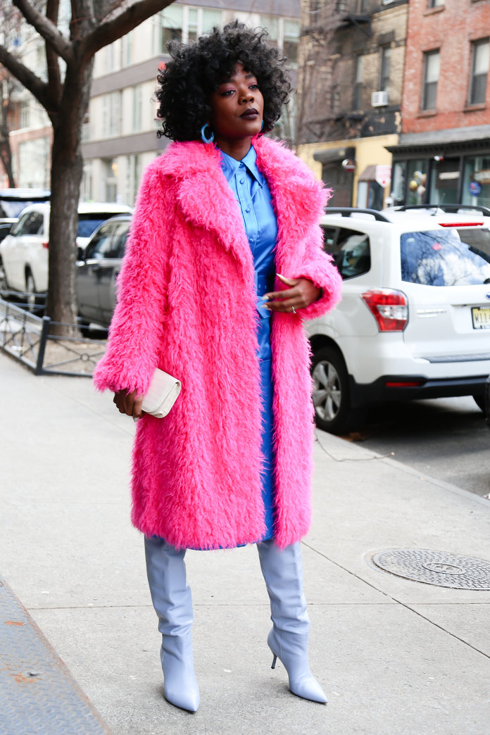 Color Pairing Ideas - Pink and Blue Outfit