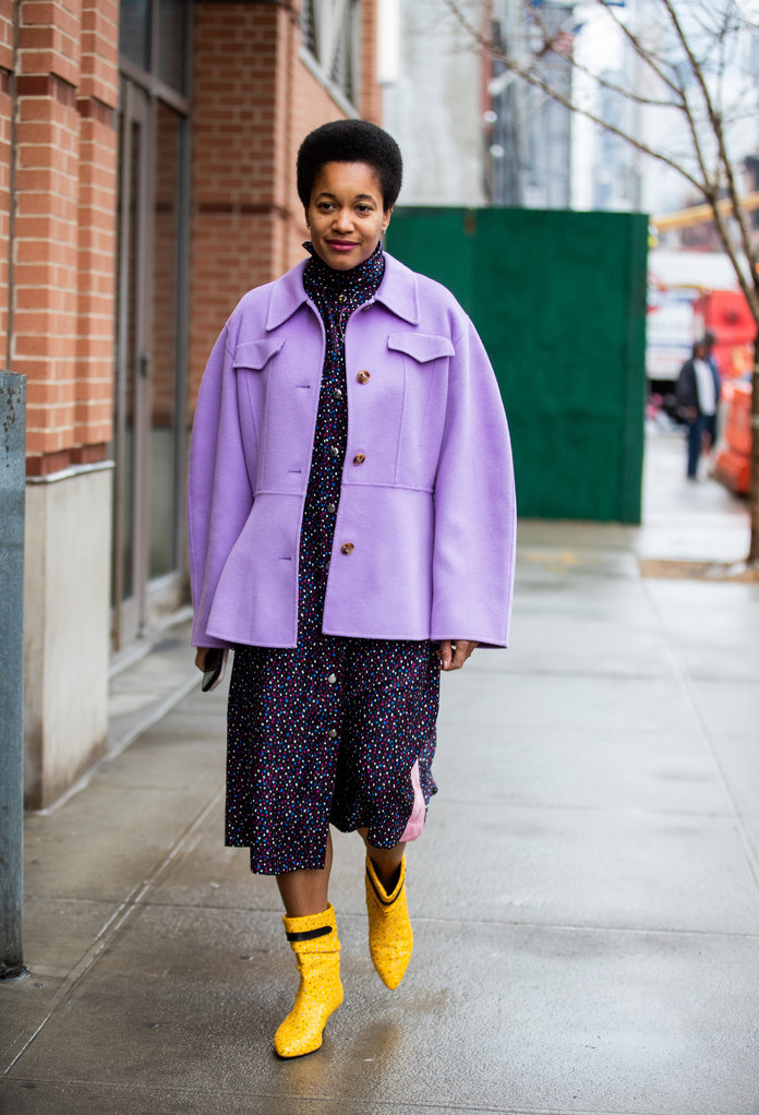 Color Pairing Ideas - Purple and Yellow Outfit
