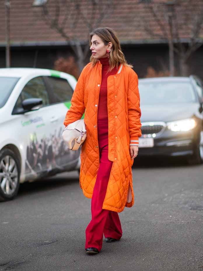 Color Pairing Ideas - Red and Orange Outfit