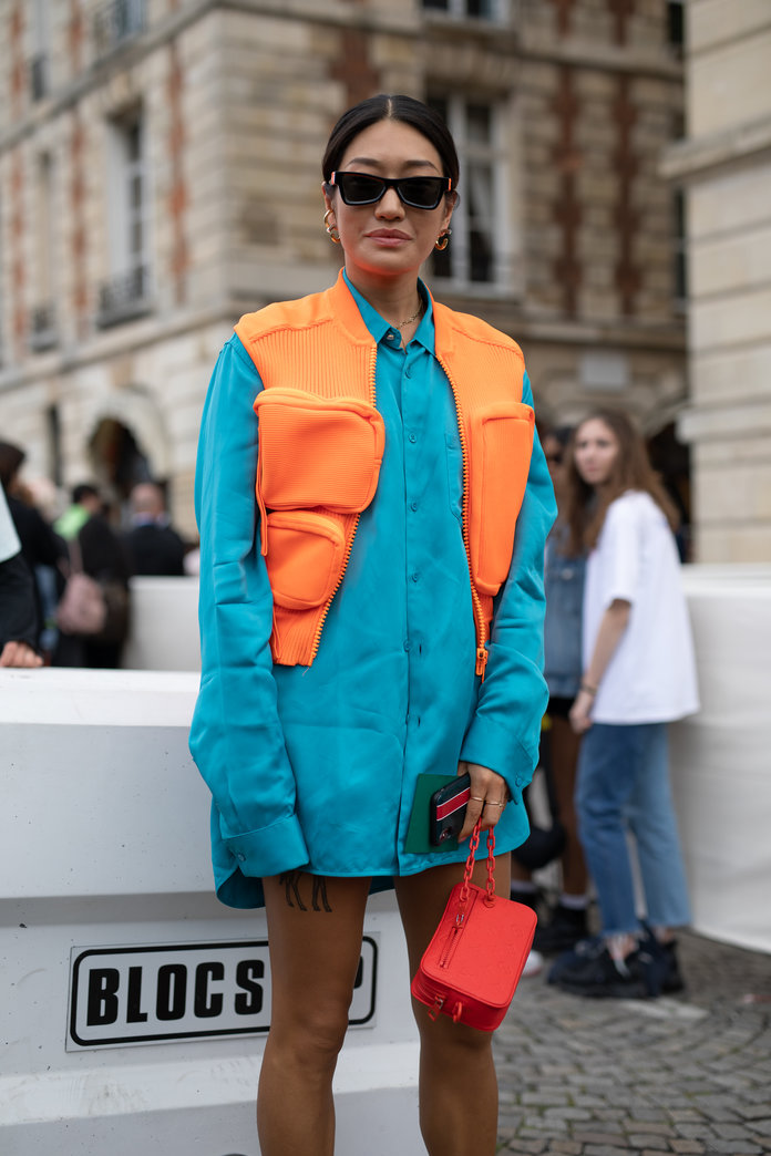 Color Pairing Ideas - Orange and Blue Outfit