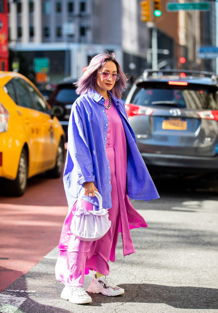 Color Pairing Ideas - Pink and Purple Outfit