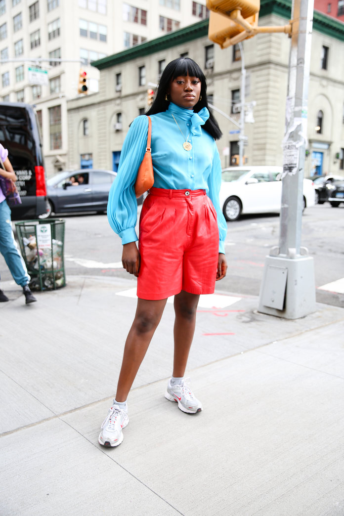 Color Pairing Ideas - Red and Blue Outfit