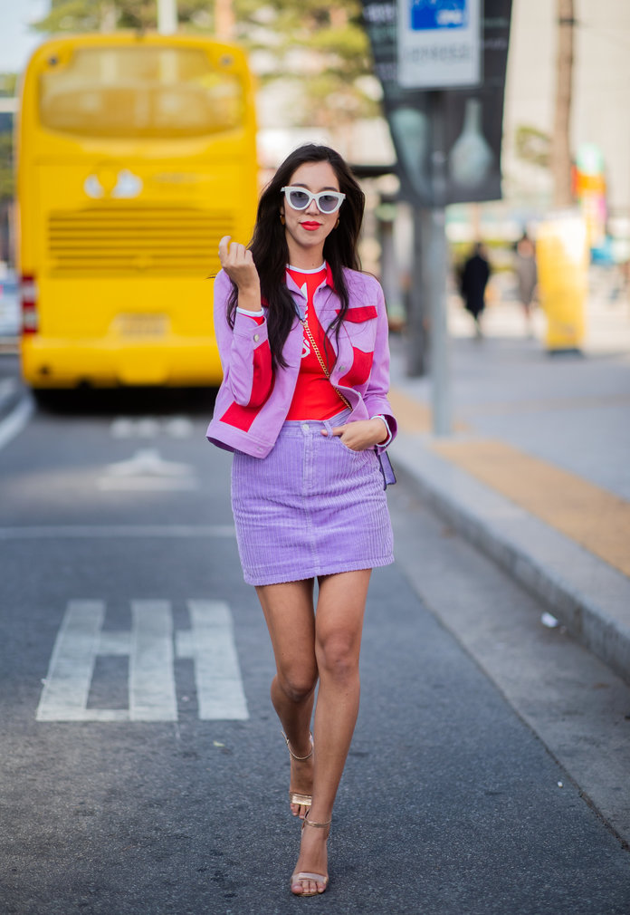 Color Pairing Ideas - Red and Purple Outfit
