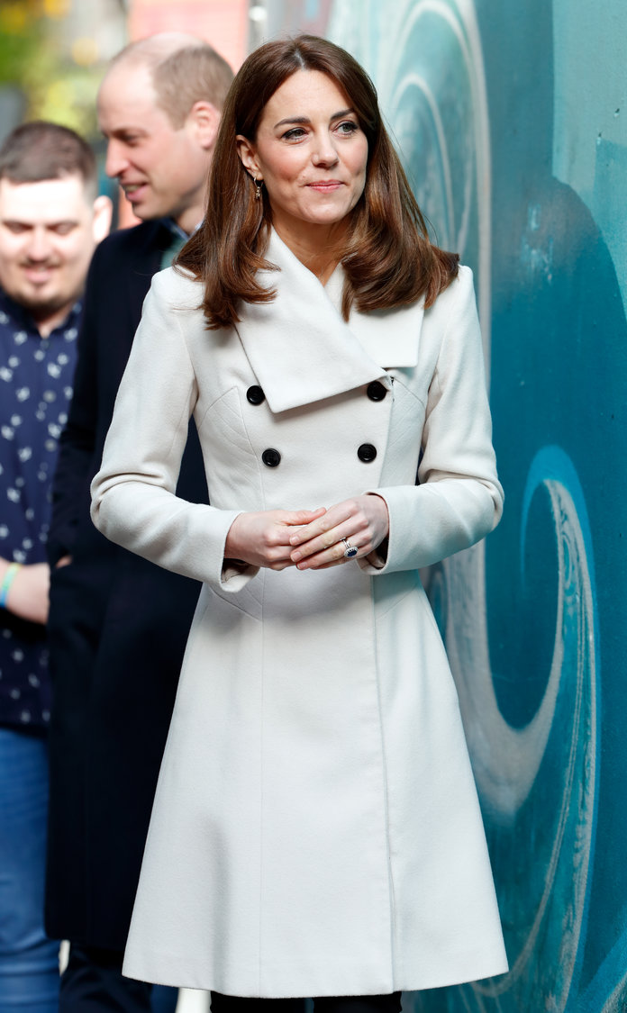kate middleton wearing cream reiss coat in ireland 2020